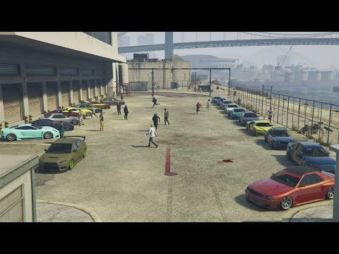 GTA 5 Online (XB1) | 30-Man Clean Stance Car Meet - Cruising, Rants, Gang Sheet, & More