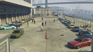GTA 5 Online (XB1) | 30-Man Clean Stance Car Meet - Cruising, Rants, Gang Sheet, & More