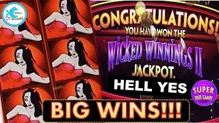Wicked Winnings Slot Machine - WW2 Jackpot and Bonuses! HOT MACHINE!