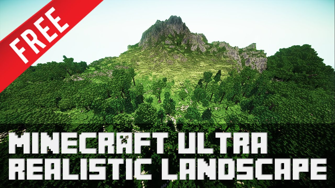 3fc87a3c3 Minecraft - Ultra Realistic Landscape [+ Download] - YouTube