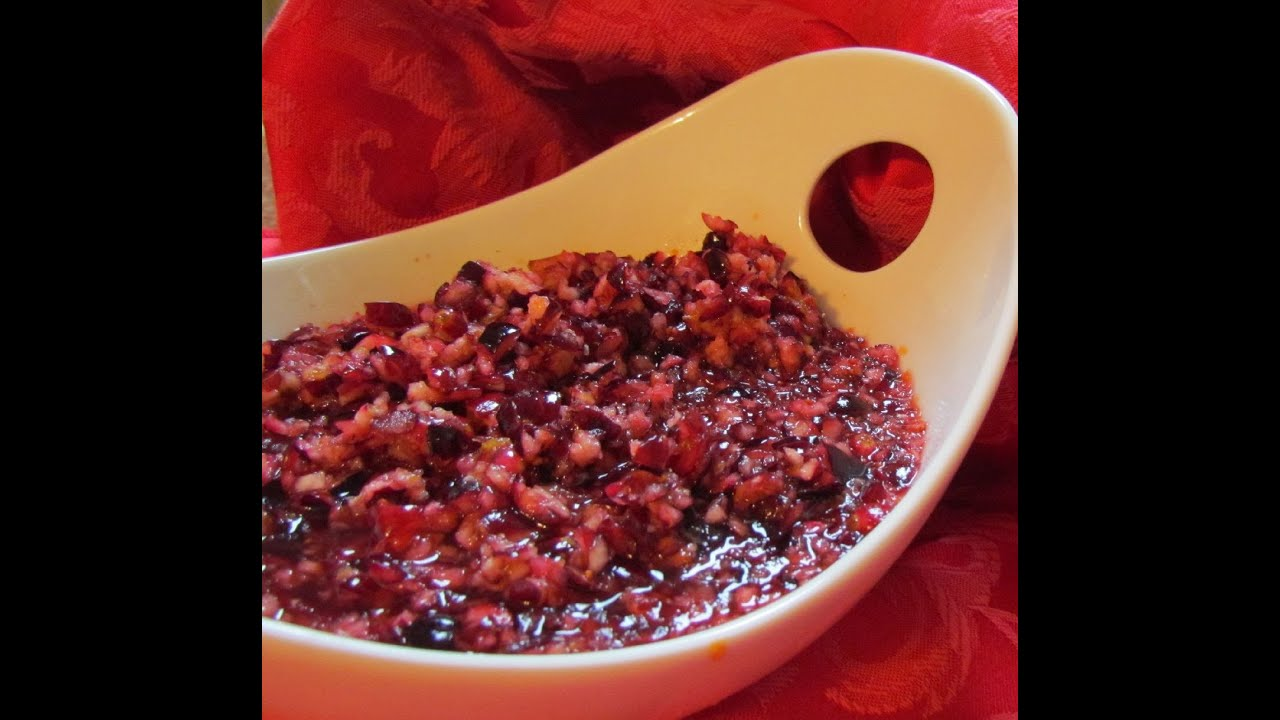 How to make fresh cranberry relish doovi for What to make with fresh cranberries