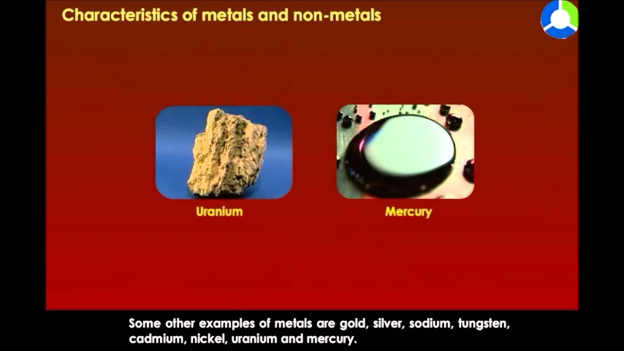 Characteristics Of Metals And Non Metals Youtube