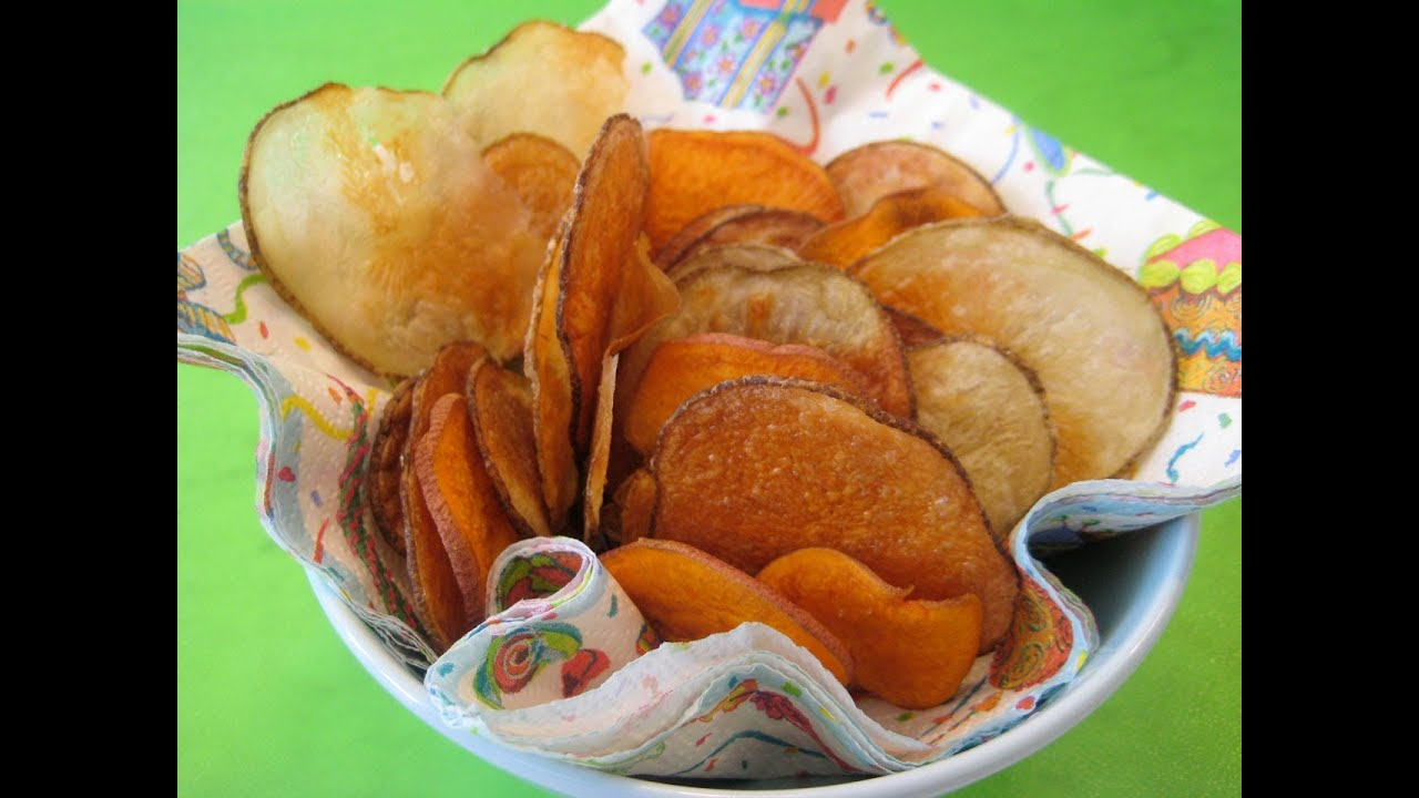 Snack Food Recipe For Kids How To Make Potato Chips With Children