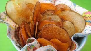 snack food recipe for kids how to make potato chips with children weelicious