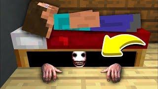 YATAĞIMIN ALTINDAKİ GİZLİ CANAVARLAR! - Minecraft