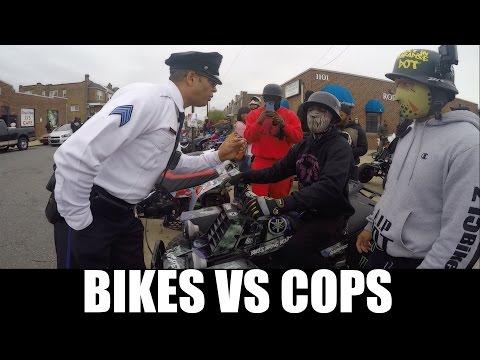 BIKES VS COPS !!!!   BRAAP VLOGS