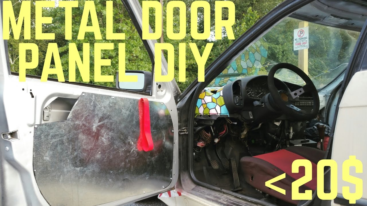 metal door panels diy less trashcar more racecar youtube. Black Bedroom Furniture Sets. Home Design Ideas