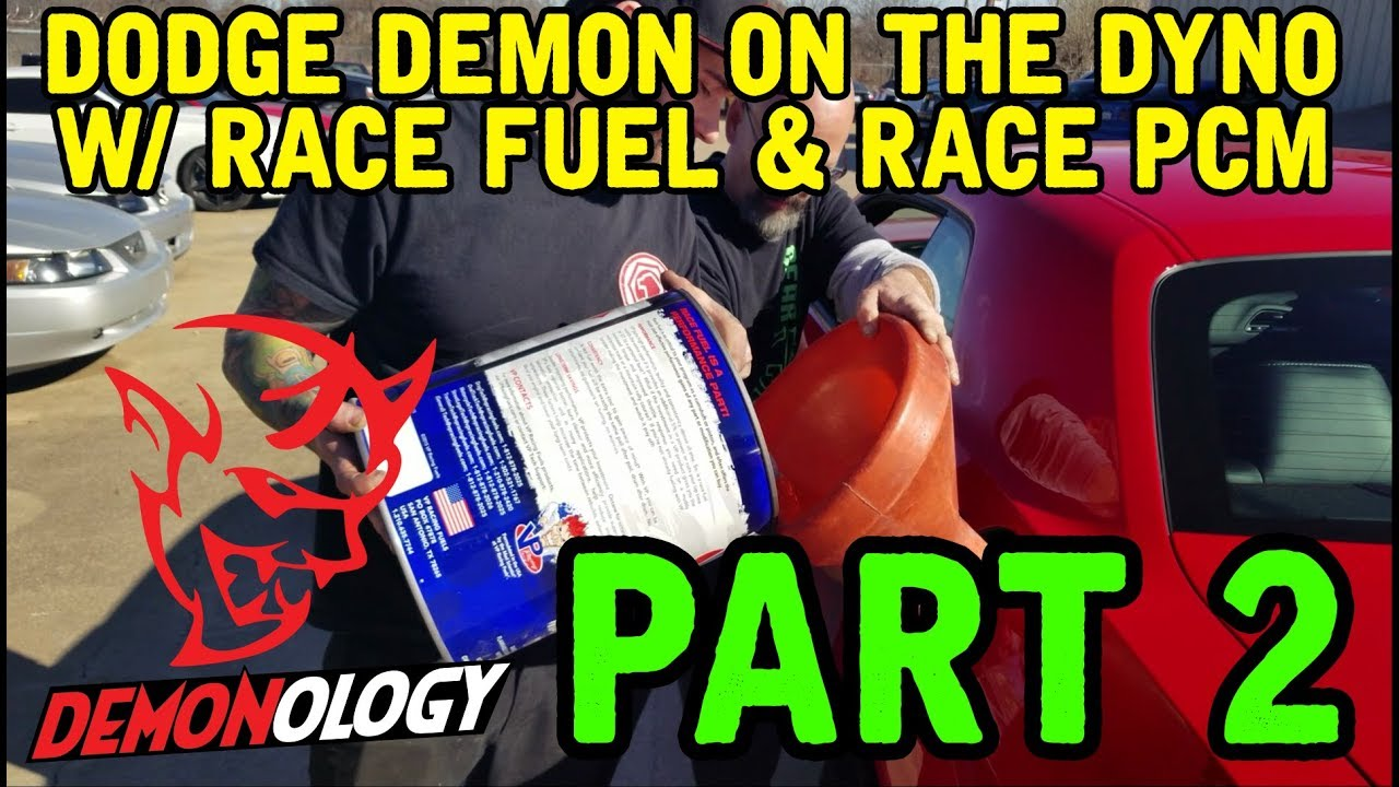 Dodge Demon Dyno PART 2 (with PCM and Race Fuel)