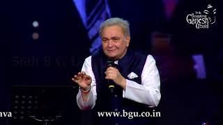Rishi Kapoor hit song ''main shayar'' from the movie ''Bobby'' @ 56th Bengaluru Ganesh Utsava , 2018