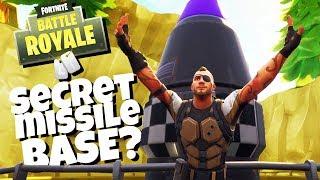 Trouver le SECRET MISSILE BASE! - Fortnite Battle Royale Gameplay - Fortnite Saison 4