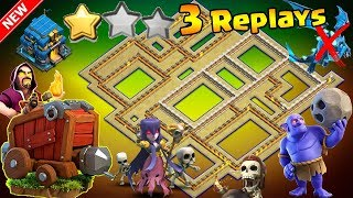 NEW TH12 WAR BASE 2018 Anti 2 Star With 3 Replays Anti Bowler Anti Queen Anti Seige Machine PROOF!!
