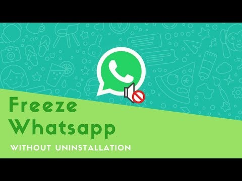 Freeze whatsapp without uninstallation - YouTube