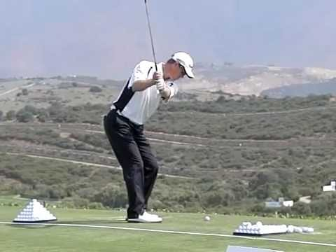 John Senden Golf Swing - Pitching, Slow Motion, Volvo World Matchplay, Down the Line