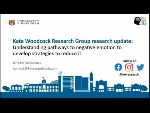 Understanding and Intervening with Emotional Outbursts: Research Update, Dr Kate Woodcock