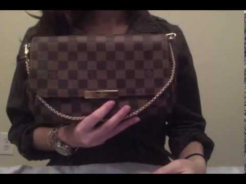 Louis Vuitton Favorite MM Damier Ebene - YouTube e14ea88dcab