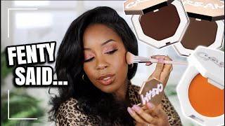 NEW FENTY BEAUTY CREAM BRONZER AND CREAM BLUSHES (ALL 10 SHADES) TESTED | Andrea Renee