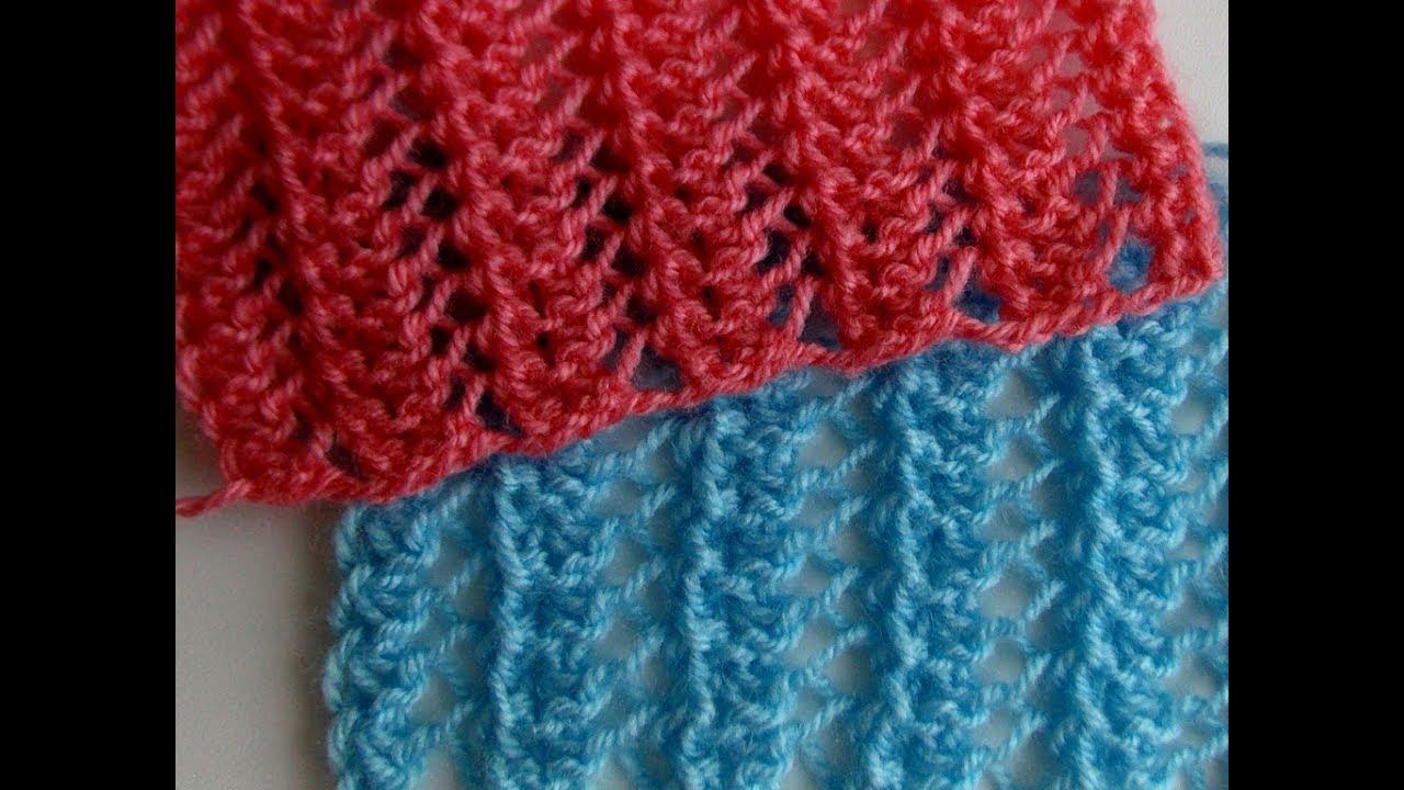 Узоры спицами Вязание двухсторонних ажурных узоров спицами