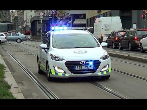Prague Municipal Police cruiser responding | Praha Městská Policie Hyundai i30 [CZ | 10.8.2016]