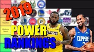 2019-2020 Nba Power Rankings Tier List