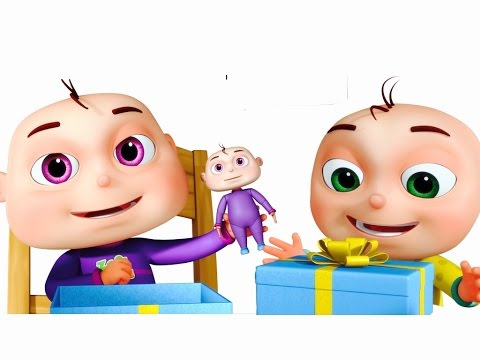 five little babies opening gift boxes cartoon animation for children nursery rhymes n kids songs