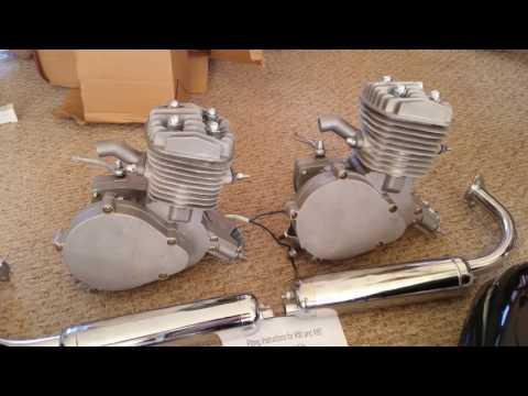 80cc 2stroke Bike Engine Kits Unboxing! Ebay (DUAL Motors)