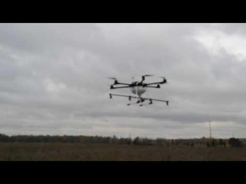 Агрофлай - Дрон для сельского хозяйства - Реальный полет 1 Га