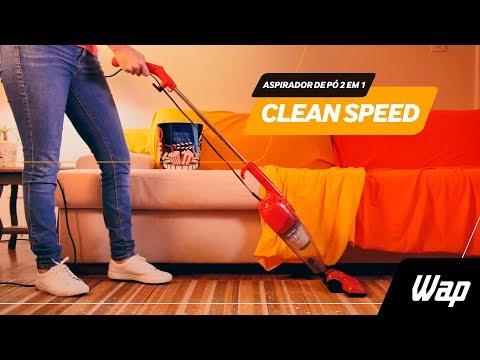 WAP Clean Speed - O melhor aspirador de pó vertical 2 em 1