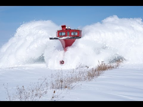 Thumbnail: Plow Train covers Photographers in Snow! [HD]