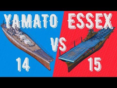 14 YAMATO vs 15 ESSEX - battle of classes - ⚓ World of warships