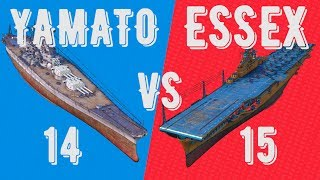 14 YAMATO vs 15 ESSEX - battle of classes - ⚓ World of warships