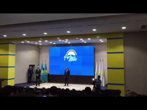 """ТарМУ-дың ректоры М.Сарыбеков """"Нұр Отан"""" партиясының омырау белгісімен марапатт ..."""
