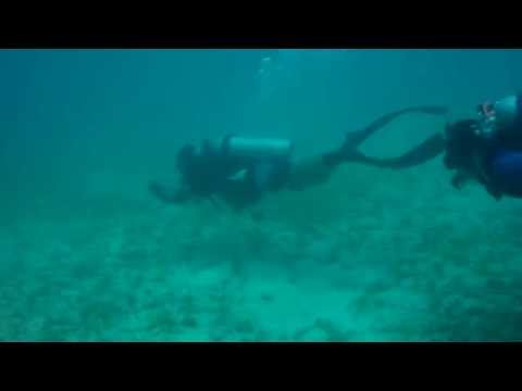 Under water Navigation. Padi AOW in training. Playa de Coco, Costa Rica Parte 2