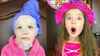 Маша опаздывает на день рождения подбирает себе наряд и делает макияж