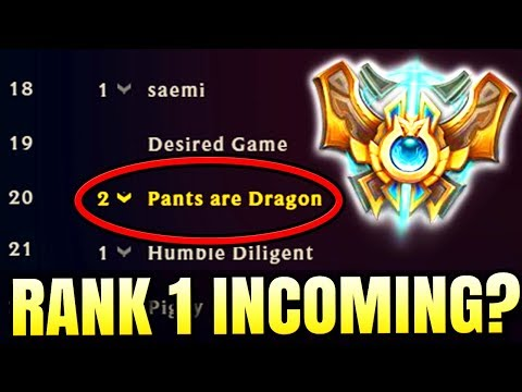 RANK 1 INCOMING?? PANTS BECOMES RANK 20 CHALLENGER!?!? - Challenger to RANK 1