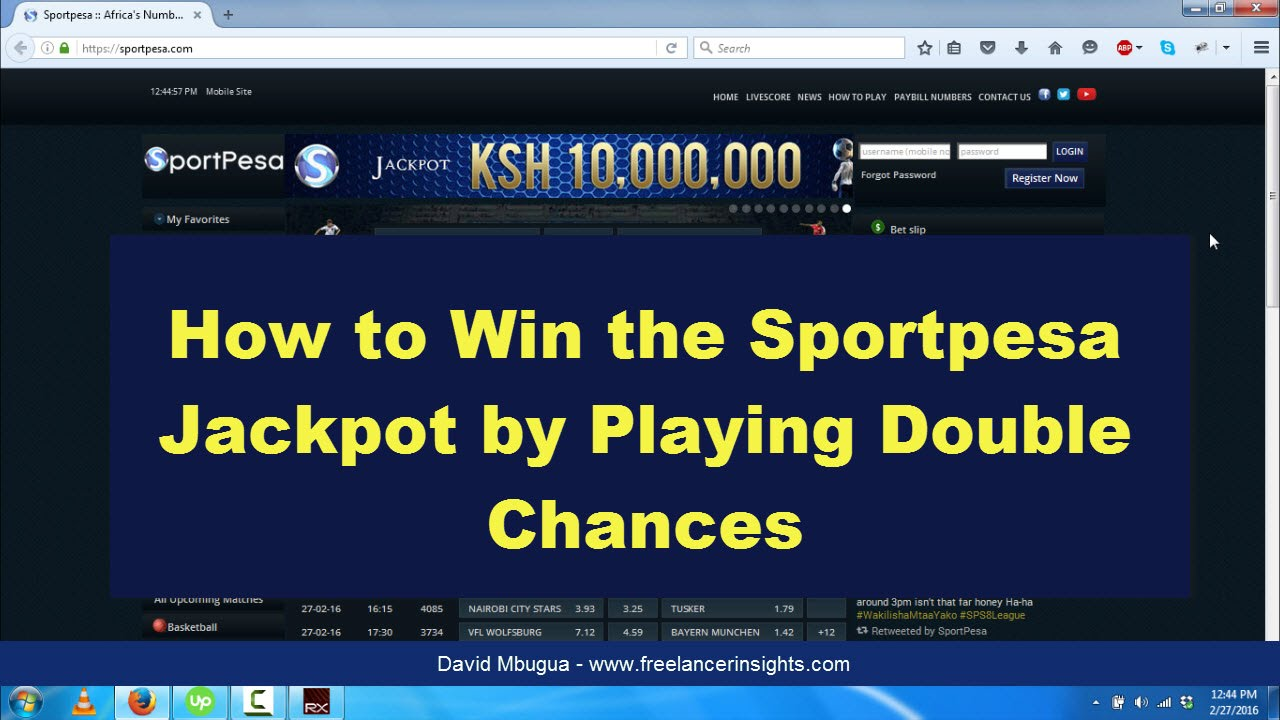 double chance betting on sportpesa matches