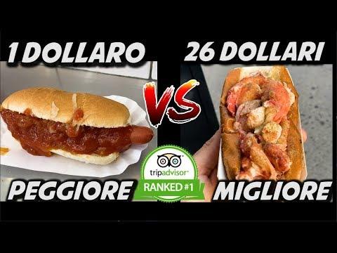 MIGLIOR HOTDOG VS PEGGIOR HOTDOG DI NEW YORK - 1€ vs 26€