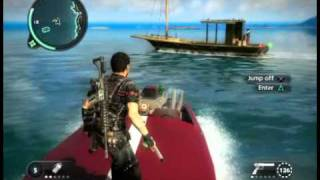 just cause 2 boats drives there selfs