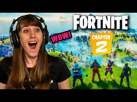 My 1st & UNSPOILED Reaction to Fortnite Chapter 2!