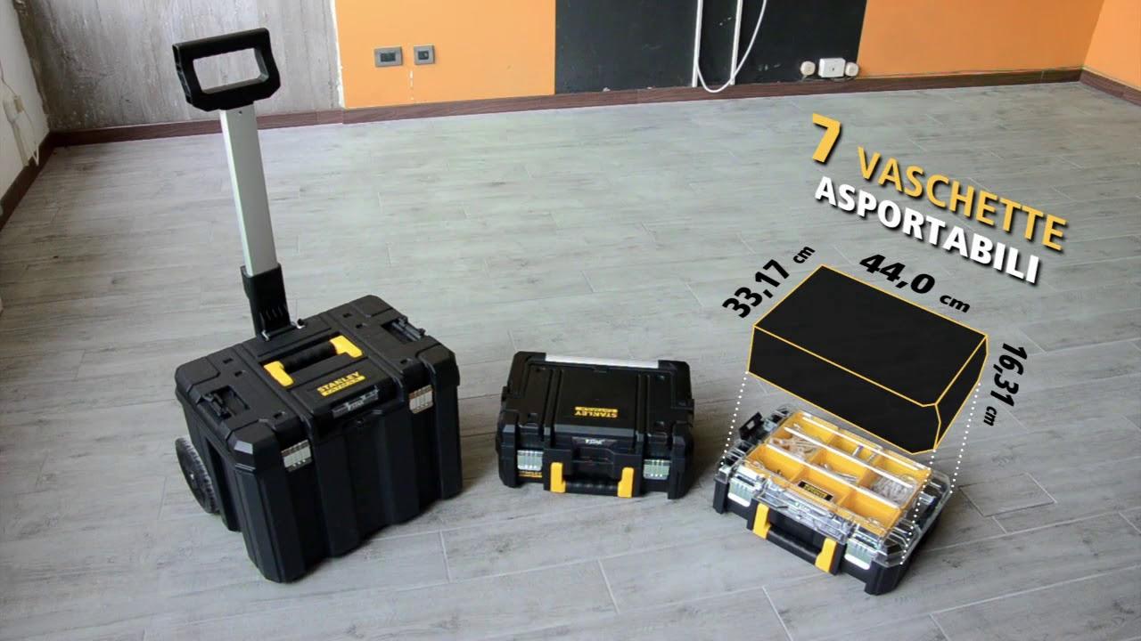 2 Tstak Cases Dewalt DWST1-75799 TStak Tower Rolling Mobile Tool Storage Boxes