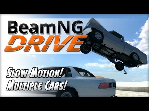 BeamNG DRIVE Public Alpha v0.3.01 - Slow Motion and Multiple Cars