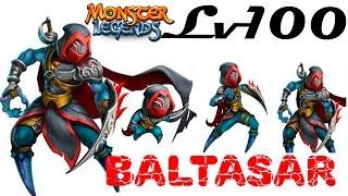 Baltasar  1-100 монстр мрака на прокачку Monster Legends