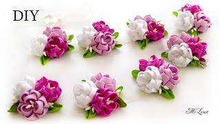 Trança de flores de fita Kanzashi