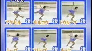 村主章枝選手の妹、村主 千香選手によるジャンプの種類解説 村主章枝 動画 27