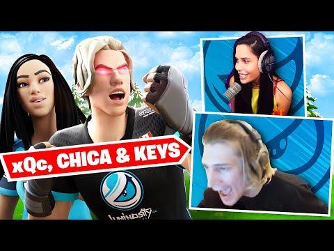xQc & Chica get REVENGE on STREAM SNIPERS ft Keys |