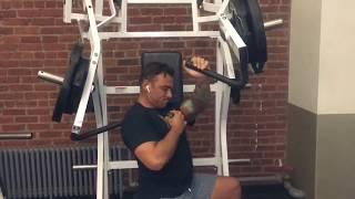 Crossbody Single Arm Machine Press | John Romaniello