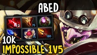 Abed 10k 1V5 IMPOSSIBLE GAME Timbersaw Dota 2 7.06f