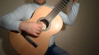 Очень лёгкая мелодия на гитаре.Урок
