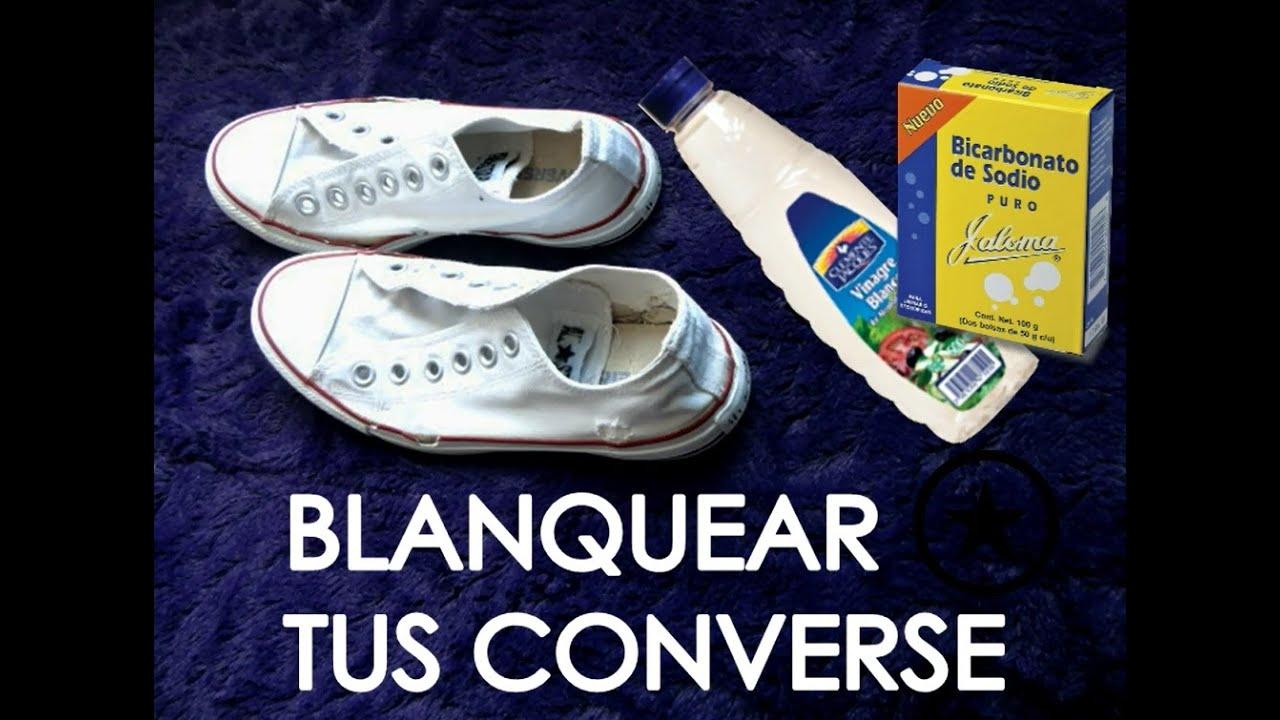 Blanquear tus converse tutorial youtube for Como desmanchar el marmol blanco