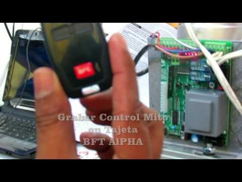 Configurar Control Mito Tarjeta BFT ALPHA Seguriproca Valencia