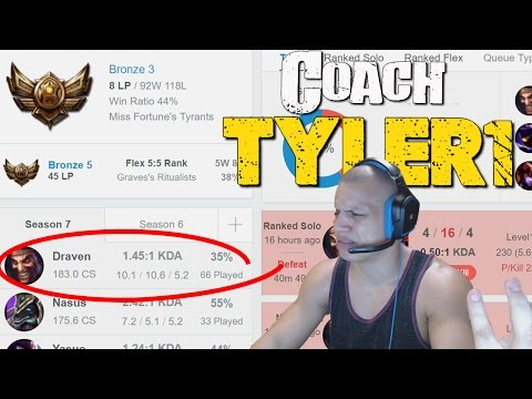 COACH TYLER1 - 35% WINRATE IN BRONZE